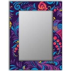 Настенное зеркало Дом Корлеоне Фиолетовая Жар-птица 80x80 см