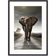Постер в рамке Дом Корлеоне Слон на дороге 30x40 см
