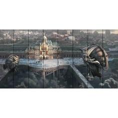 Картина на дереве Дом Корлеоне Город науки 50x100 см