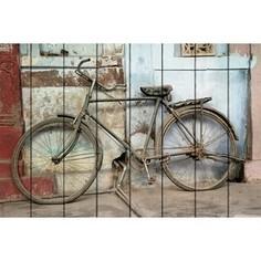 Картина на дереве Дом Корлеоне Старый велосипед 60x90 см
