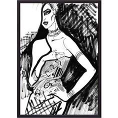 Постер в рамке Дом Корлеоне Граффити фэшн 40x60 см