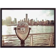 Постер в рамке Дом Корлеоне Вид на Манхэттен 21x30 см