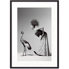 Постер в рамке Дом Корлеоне Девушка и журавль 50x70 см