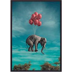 Постер в рамке Дом Корлеоне Слон с шариками 30x40 см