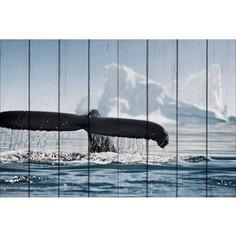 Картина на дереве Дом Корлеоне Хвост кита 100x150 см
