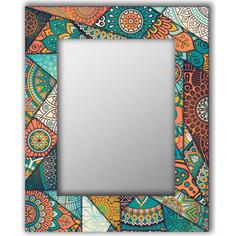 Настенное зеркало Дом Корлеоне Бирюзовый калейдоскоп 75x170 см