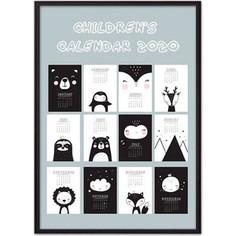 Постер в рамке Дом Корлеоне Детский календарь №1 30x40 см