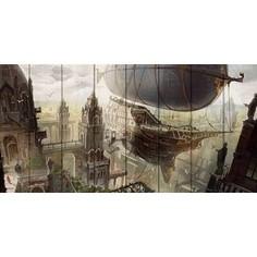 Картина на дереве Дом Корлеоне Воздушный корабль 70x140 см