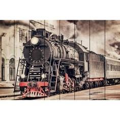 Картина на дереве Дом Корлеоне Старый поезд 120x180 см
