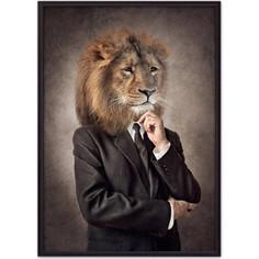 Постер в рамке Дом Корлеоне Человек-лев 21x30 см