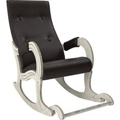 Кресло-качалка Мебель Импэкс Модель 707 дуб шампань/патина, к/з Dundi 108