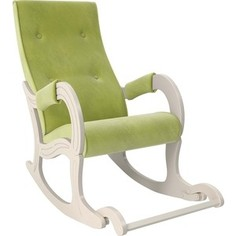 Кресло-качалка Мебель Импэкс Модель 707 дуб шампань, ткань Verona apple green