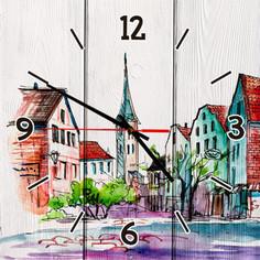 Настенные часы Дом Корлеоне Старый город 30x30 см