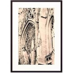 Постер в рамке Дом Корлеоне Собор Св. Патрика Нью-Йорк 30x40 см