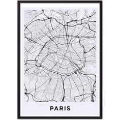 Постер в рамке Дом Корлеоне Карта Париж 50x70 см