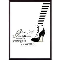 Постер в рамке Дом Корлеоне Модная обувь 40x60 см