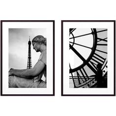 Набор из 2-х постеров Дом Корлеоне Коллаж Париж №15 40х60 см 2 шт.