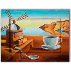 Картина с арт рамой Дом Корлеоне Завтрак 60x80 см