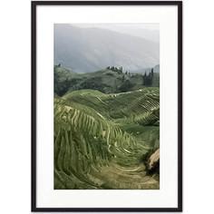 Постер в рамке Дом Корлеоне Рисовые поля 21x30 см