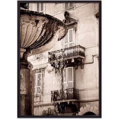 Постер в рамке Дом Корлеоне Римский фонтан 40x60 см