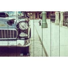 Картина на дереве Дом Корлеоне Ретро автомобиль 60x90 см