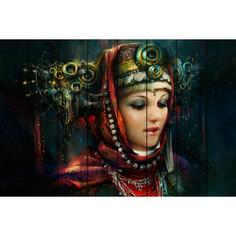 Картина на дереве Дом Корлеоне Русская красавица 100x150 см