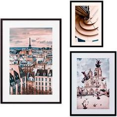 Набор из 3-х постеров Дом Корлеоне Коллаж Париж №26 30х40 см 1 шт., 40х60 см 1 шт., 50х70 см 1шт.