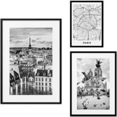 Набор из 3-х постеров Дом Корлеоне Коллаж Париж №27 30х40 см 1 шт., 40х60 см 1 шт., 50х70 см 1шт.