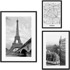 Набор из 3-х постеров Дом Корлеоне Коллаж Париж №36 30х40 см 1 шт., 40х60 см 1 шт., 50х70 см 1шт.