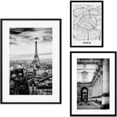 Набор из 3-х постеров Дом Корлеоне Коллаж Париж №25 21х30 см 1 шт., 30х40 см 1 шт., 40х60 см 1шт.