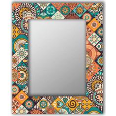 Настенное зеркало Дом Корлеоне Индийская плитка 90x90 см