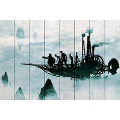 Картина на дереве Дом Корлеоне Полет вокруг земли 60x90 см