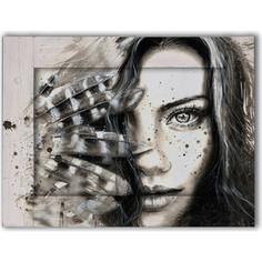Картина с арт рамой Дом Корлеоне Женщина с перьями 80x100 см