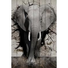 Картина на дереве Дом Корлеоне Дикий слон 30x40 см