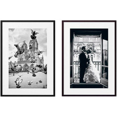 Набор из 2-х постеров Дом Корлеоне Коллаж Париж №1 40х60 см 2 шт.