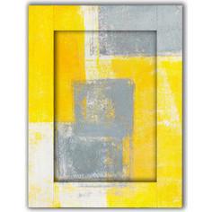 Картина с арт рамой Дом Корлеоне Желтый и серый 60x80 см