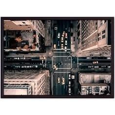 Постер в рамке Дом Корлеоне Манхэттен с высоты 50x70 см