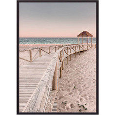 Постер в рамке Дом Корлеоне Мостик к пляжу 30x40 см