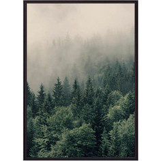 Постер в рамке Дом Корлеоне Зеленый лес 50x70 см