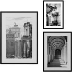 Набор из 3-х постеров Дом Корлеоне Коллаж Рим №40 30х40 см 1 шт., 40х60 см 1 шт., 50х70 см 1шт.
