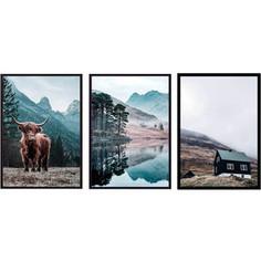 Набор из 3-х постеров Дом Корлеоне Коллаж Природа №161 50х70 см 3 шт.