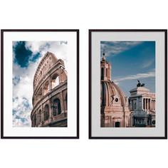 Набор из 2-х постеров Дом Корлеоне Коллаж Рим №6 40х60 см 2 шт.