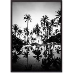 Постер в рамке Дом Корлеоне Пальмы у бассейна 40x60 см