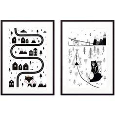 Набор из 2-х постеров Дом Корлеоне Коллаж Детский №30 21х30 см 2 шт.