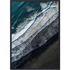 Постер в рамке Дом Корлеоне Пляж с высоты 40x60 см