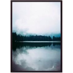 Постер в рамке Дом Корлеоне Лесное озеро 50x70 см