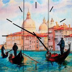 Настенные часы Дом Корлеоне Лодочники в Венеции 50x50 см
