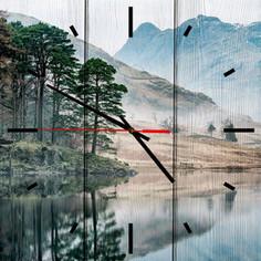 Настенные часы Дом Корлеоне Озеро 60x60 см