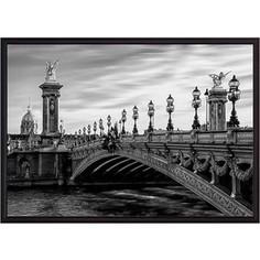 Постер в рамке Дом Корлеоне Мост Александра III 30x40 см
