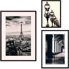 Набор из 3-х постеров Дом Корлеоне Коллаж Париж №62 30х40 см 1 шт., 40х60 см 1 шт., 50х70 см 1шт.